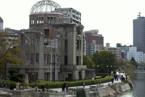 Hiroshima peace park and bombing dome